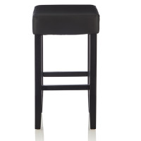 Rocco Faux Leather Black Bar Stool