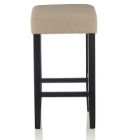 Rocco Fabric Black Bar Stool