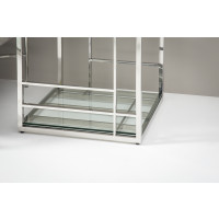 Remi Stainless Steel Lamp Table