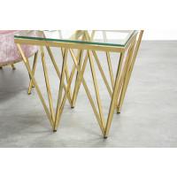 Vera Stainless Steel Lamp Table