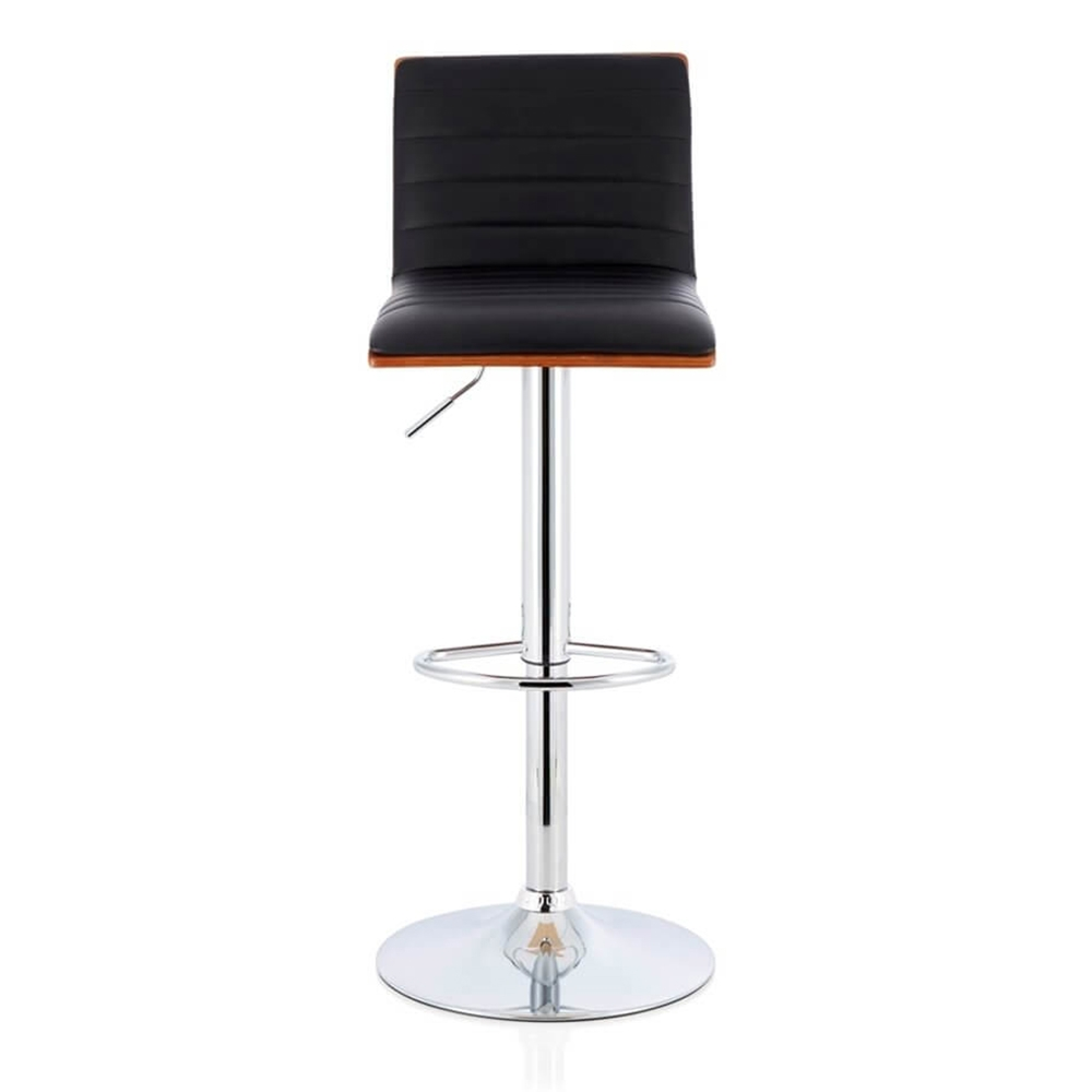 Fine Details About Set Of 2 Marino Walnut Bar Stool Swivel Pu Leather Backrest Seat Chrome Footrest Short Links Chair Design For Home Short Linksinfo