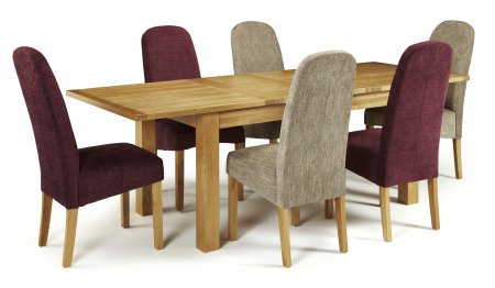 Brisbane Extendable and Albury Fabric Dining Set
