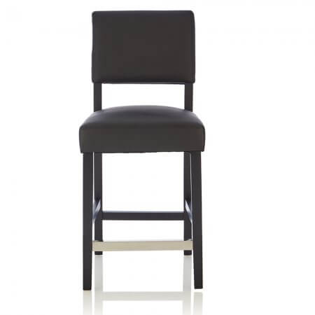 Carter Faux Leather Black Bar Stool