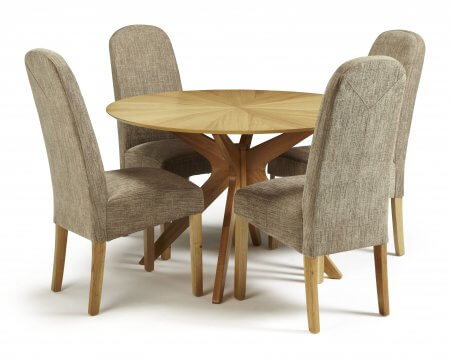 Rockhampton and Albury Fabric Dining Set