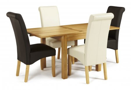 Geraldton Extended and Melbourne Faux Dining Set