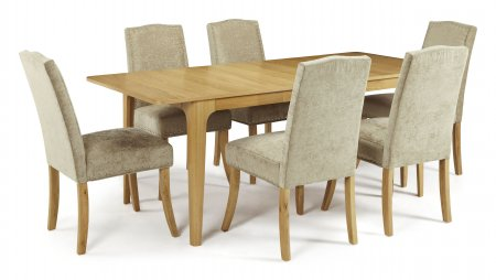 Barossa Extended and Mckay Fabric Dining Set