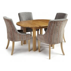 Davonport Extended and Adelaide Fabric Dining Set