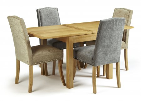 Geraldton Extended and Mckay Fabric Dining Set