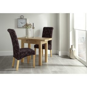 Mildura Extended and Melbourne Floral Fabric Dining Set