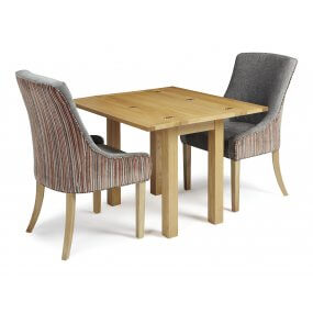 Mildura Extended and Adelaide Fabric Dining Set