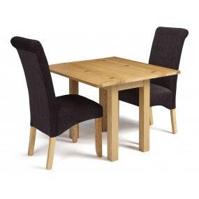 Mildura Extended and Melbourne Plain Fabric Dining Set
