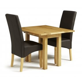 Mildura Extended and San Diego Faux Leather  Dining Set