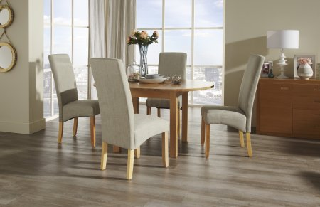 Davonport Extended and San Diego Fabric Dining Set