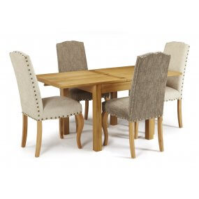 Geraldton Extended and Darwin Fabric Dining Set