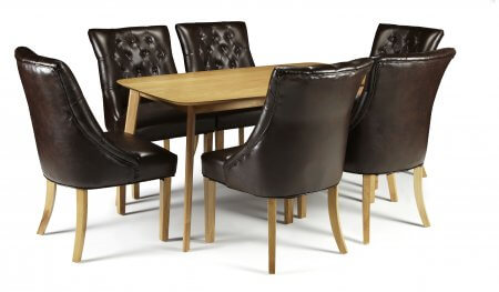 Sorrell and Hobart Bonded Leather Dining Set
