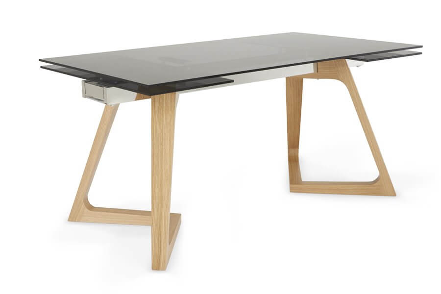 Moseley 160 Cm Extended Smoked Glass Dining Table