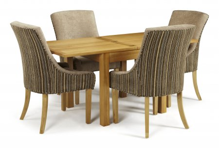 Geraldton Extended and Adelaide Fabric Dining Set