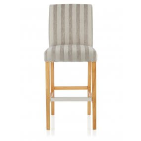 Nathan Fabric Oak Bar Stool