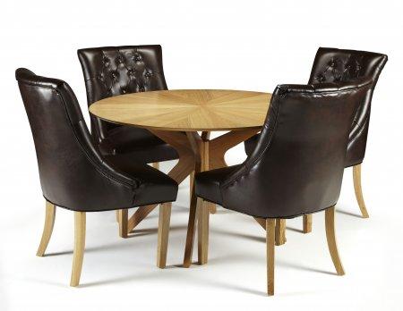 Rockhampton and Hobart Bonded Leather Dining Set