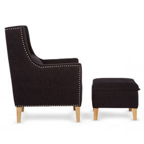Lourdes Chair with Footstool