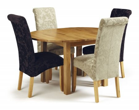 Davonport Extended and Melbourne Floral Dining Set