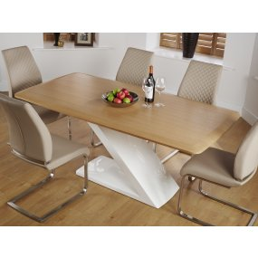 Hockley Oak and Hammond Faux Leather Dining Set