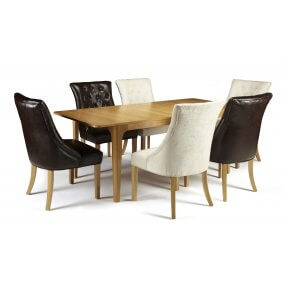 Barossa Extended and Hobart Bonded Leather Dining Set