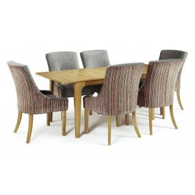Barossa Extended and Adelaide Fabric Dining Set