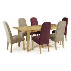Barossa Extended and Albury Fabric Dining Set