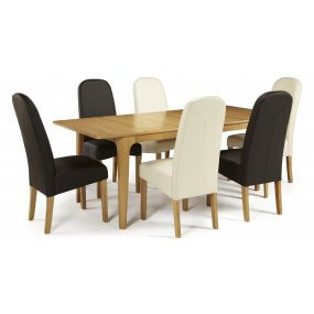 Barossa Extended and Albury Faux Dining Set