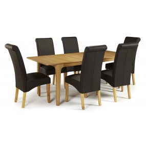 Barossa Extended and Melbourne Faux Dining Set