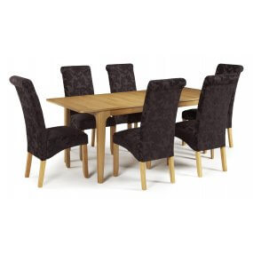 Barossa Extended and Melbourne Floral Fabric Dining Set