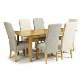 Barossa Extended and San DIego Fabric Dining Set
