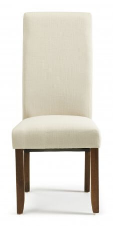San Diego Fabric Dining Chair with Walnut Legs