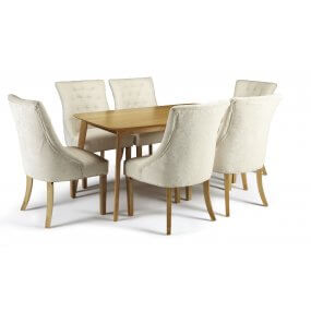 Sorrell and Hobart Fabric Dining Set