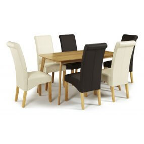Sorrell and Melbourne Faux Dining Set
