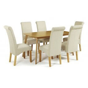 Sorrell and Melbourne Plain Fabric Dining Set