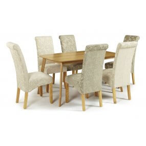 Sorrell and Melbourne Floral Fabric Dining Set