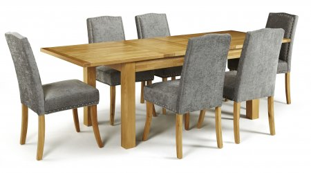 Brisbane Extendable and Mckay Fabric Dining Set