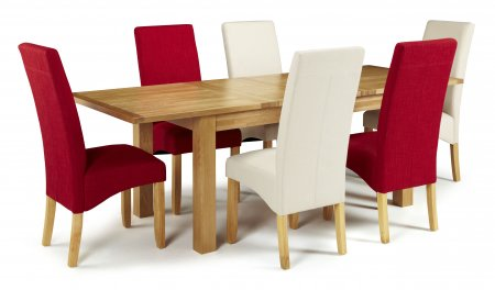 Brisbane Extendable and San Diego Fabric Dining Set