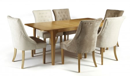 Barossa Extended and Hobart Fabric Dining Set