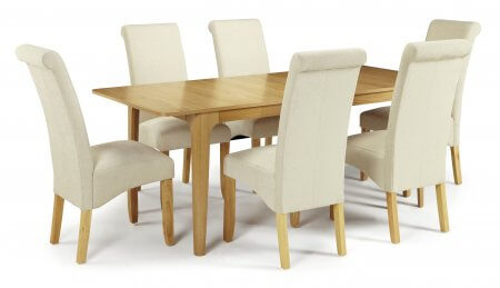 Barossa Extended and Melbourne Plain Fabric Dining Set
