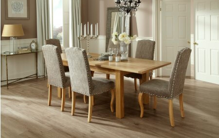 Brisbane Extendable and Darwin Fabric Dining Set