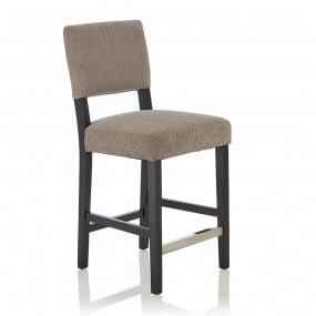 Carter Fabric Black Bar Stool