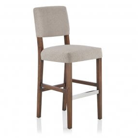 Carter Fabric Walnut Bar Stool