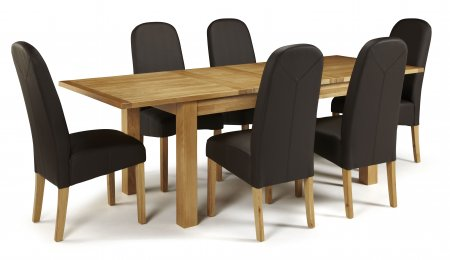Brisbane Extendable and Albury Faux Dining Set