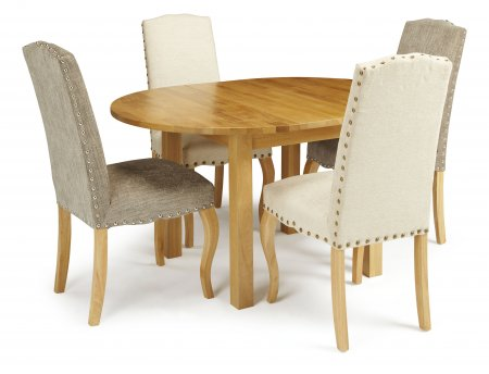 Davonport Extended and Darwin Fabric Dining Set