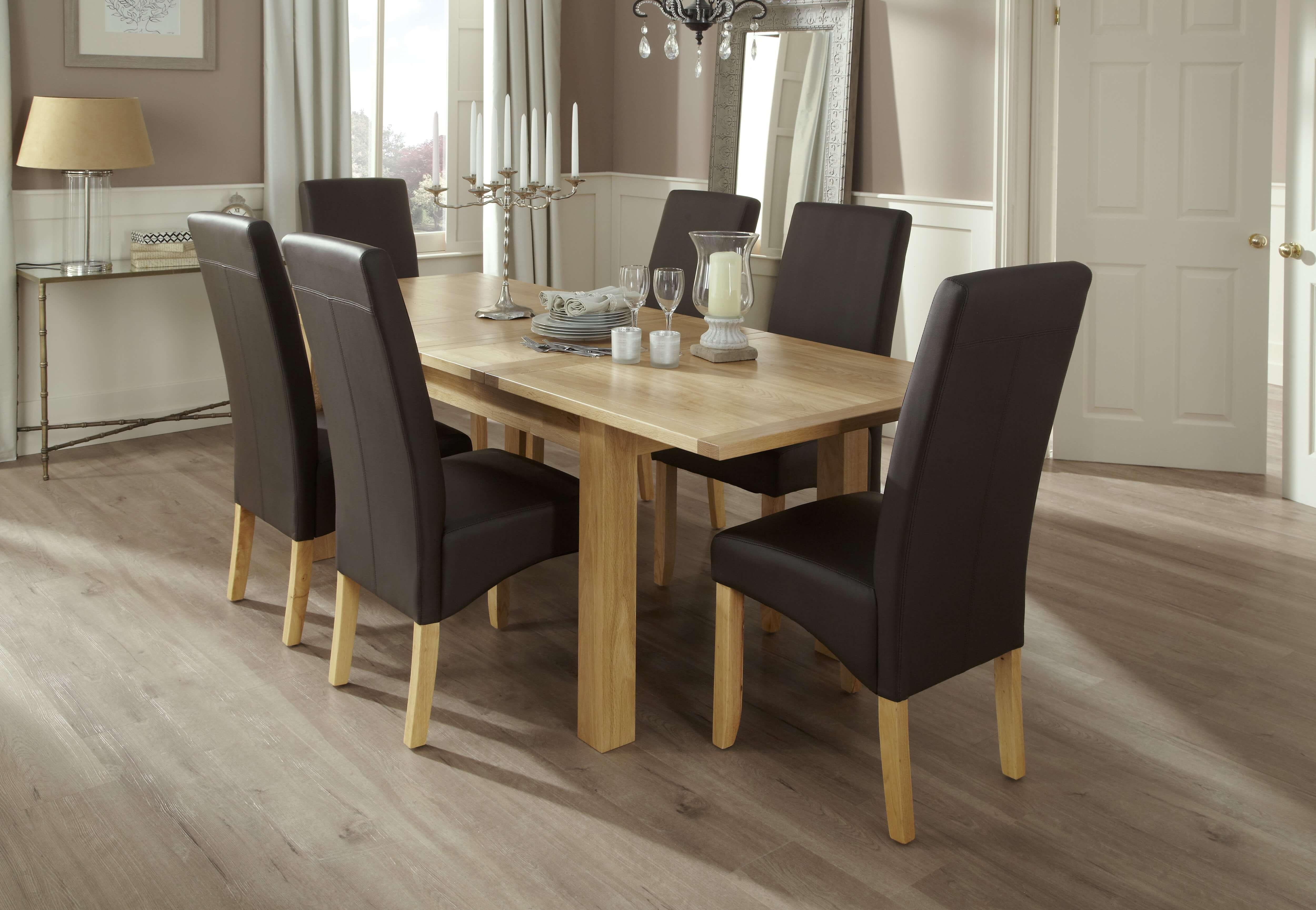 Brisbane Extendable And San Diego Faux Dining Set