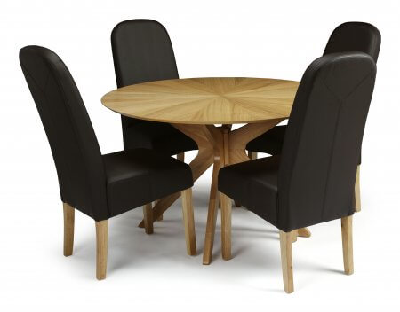 Rockhampton and Albury Faux Leather Dining Set