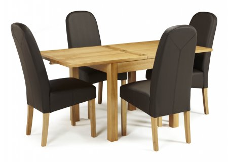 Geraldton Extended and Albury Faux Dining Set
